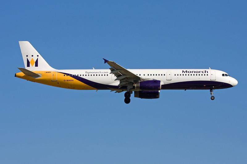 """G-MARA Airbus A321-231 """"Monarch Airlines"""" c/n 0983 Barcelona-El Prat/LEBL/BCN 29-06-08"""