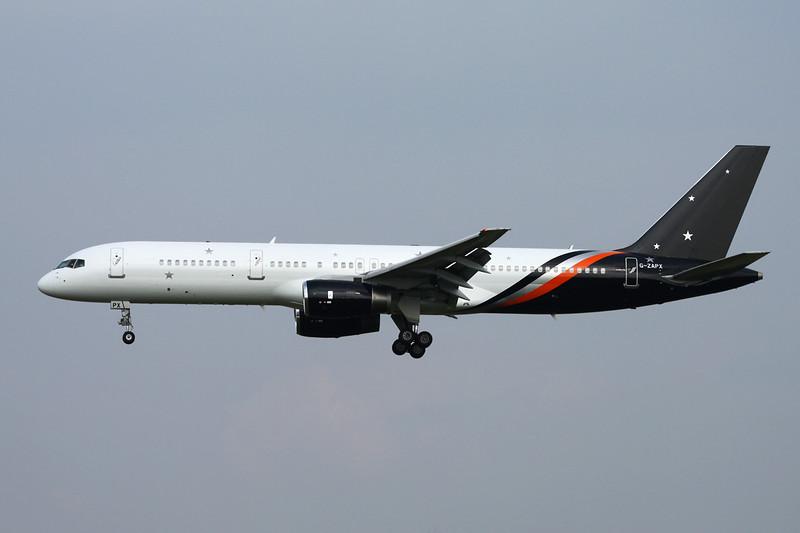 "G-ZAPX Boeing 757-256 ""Titan Airways"" c/n 29309 Brussels/EBBR/BRU 11-06-16"