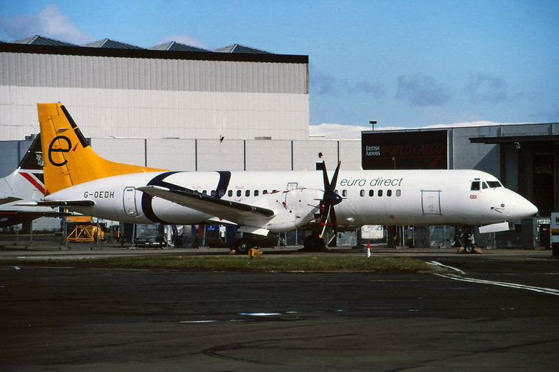 "G-OEDH British Aerospace ATP ""euro direct"" c/n 2039 Glasgow/EGPF/GLA 18-03-95 (35mm slide)"