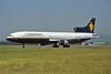 """G-BBAH Lockheed L1011-100 TriStar """"Caledonian Airways"""" c/n 1101 Glasgow/EGPF/GLA 01-08-95 (35mm slide)"""