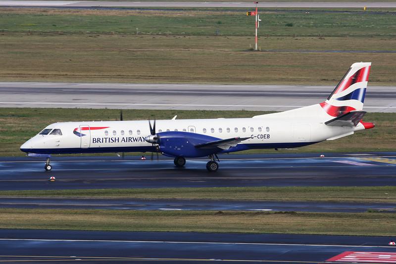 """G-CDEB SAAB 2000 """"Eastern Airways"""" c/n 036 Dusseldorf/EDDL/DUS 09-09-13 """"British Airways"""""""
