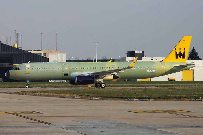 """D-AVZT Airbus A321-231(SL) """"Airbus Industrie"""" c/n 6059 Maastricht/EHBK/MST 25-03-14"""