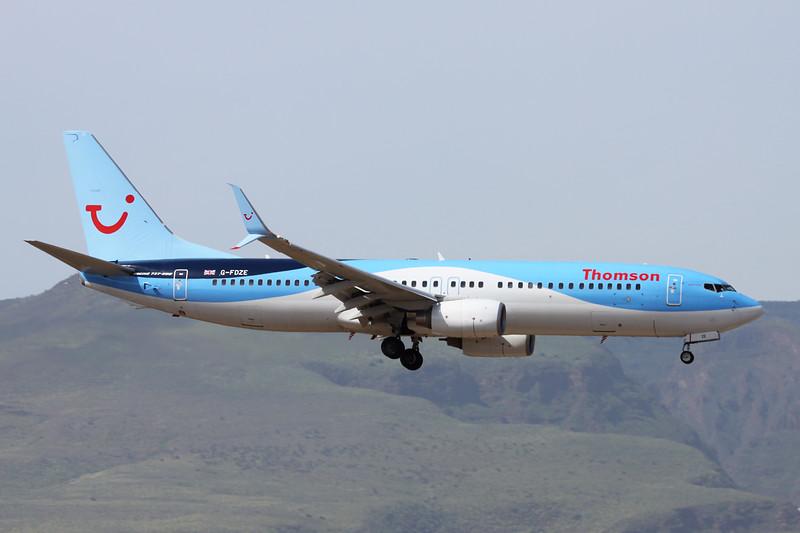 G-FDZE Boeing 737-8K5 c/n 35137 Las Palmas/GCLP/LPA 04-02-16