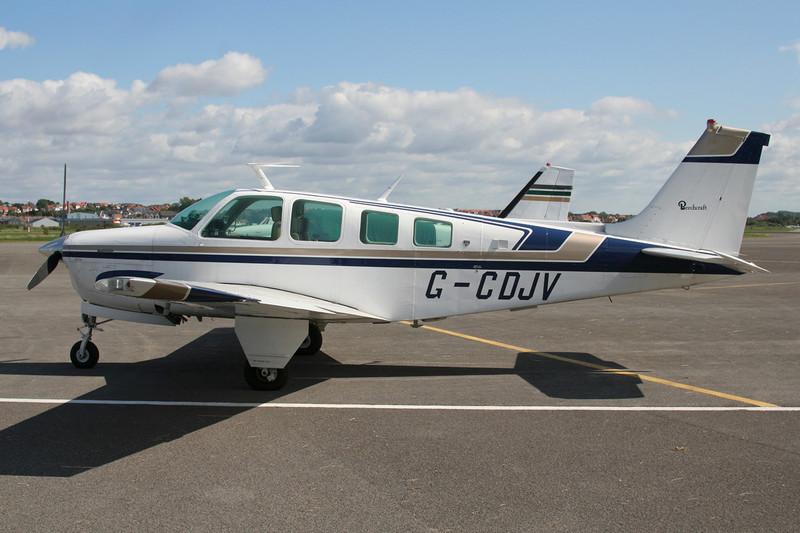 G-CDJV Beech A36 Bonanza 36 c/n E-951 Le Touquet/LFAT/LTQ 09-09-07