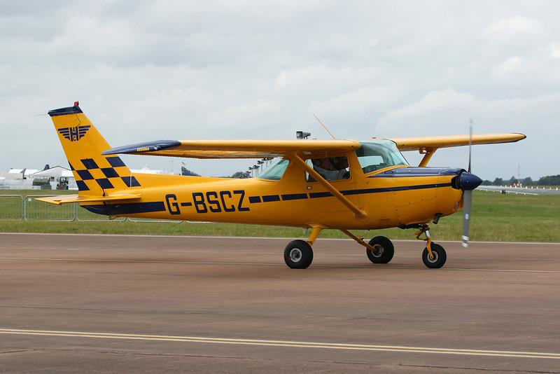 G-BSCZ Cessna 152 c/n 152-82199 Fairford/EGVA/FFD 22-07-19