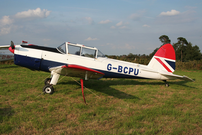 G-BCPU de Havilland Canada DHC-1 Chipmunk 22 c/n C1/0839 Verviers-Theux/Laboru 01-09-07