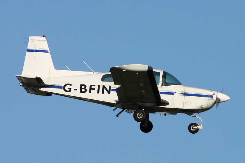 G-BFIN American AA-5 Cheetah c/n AA5A-0520 Prestwick/EGPK/PIK 10-11-13