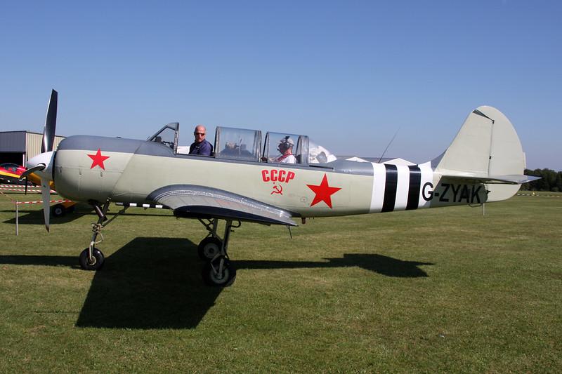 G-ZYAK Yakovlev Yak-52 c/n 877415 St.Hubert/EBSH 30-08-15