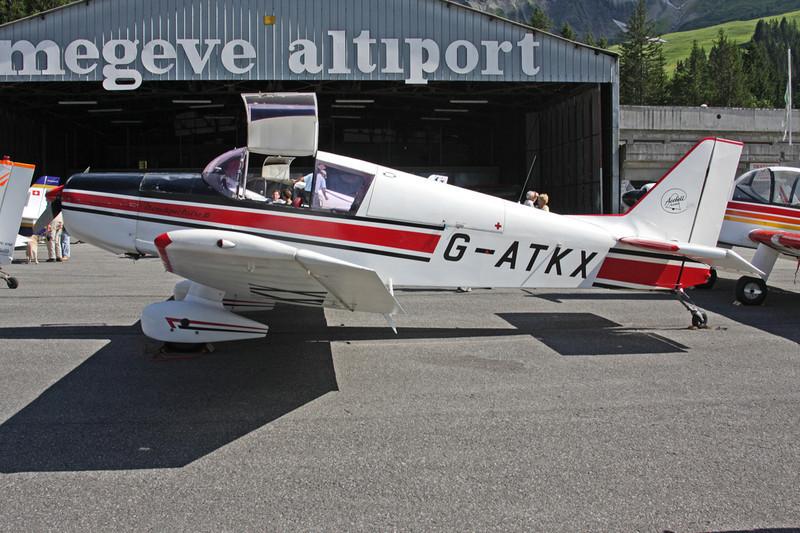 G-ATKX SAN Jodel D.140C Mousquetaire c/n 163 Megeve/LFHM/MVV 04-07-08