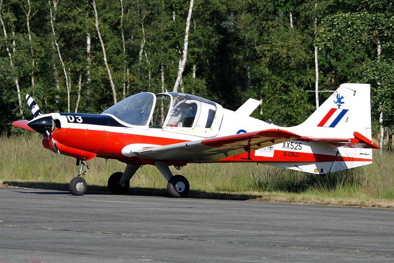 G-CBJJ (XX525/03) Scottish Aviation SA.120 T.1 Bulldog c/n 211 Zoersel/EBZR 18-08-12