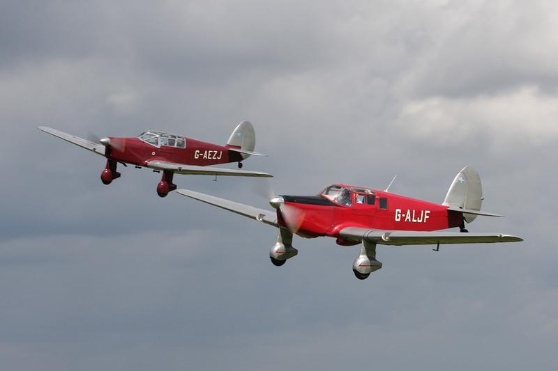 G-AEZJ Percival P.10 Vega Gull c/n K.65 & G-ALJF Percival P.34 Proctor IIIA c/n K.247 Vervier-Theux/EBTX 05-09-09