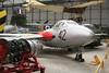 XH278 de Havilland DH-115 Vampire T.11 c/n 15609 Elvington/EGYK 23-05-08