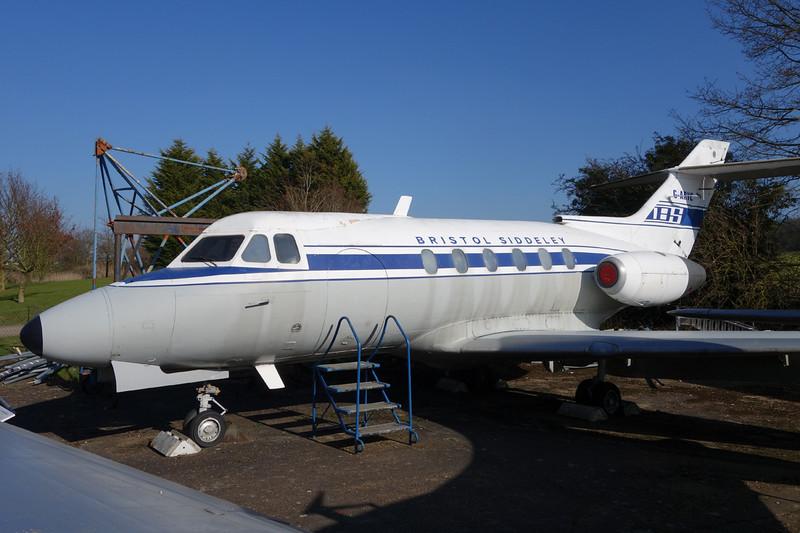 G-ARYC Hawker Siddeley 125 Series 1 c/n 25003 London Colney 09-03-14