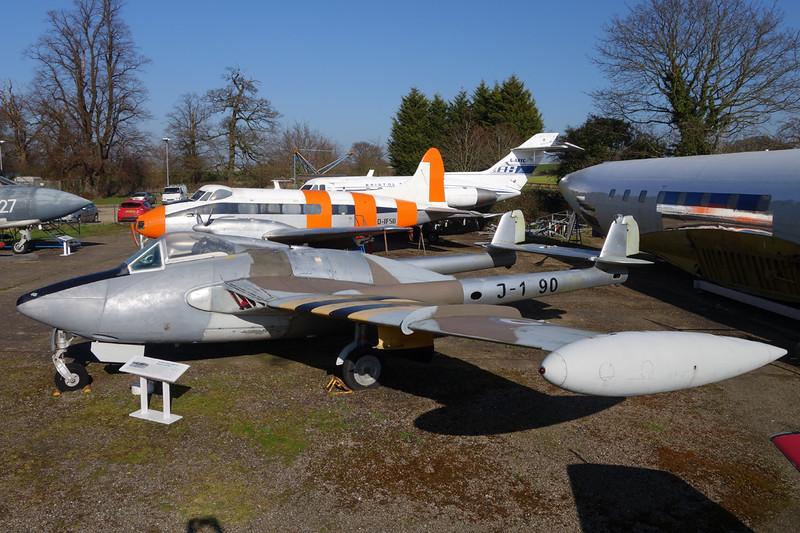 G-BLKA (J-1790) de Havilland DH-112 Venom FB.54 c/n 960 London Colney 09-03-14