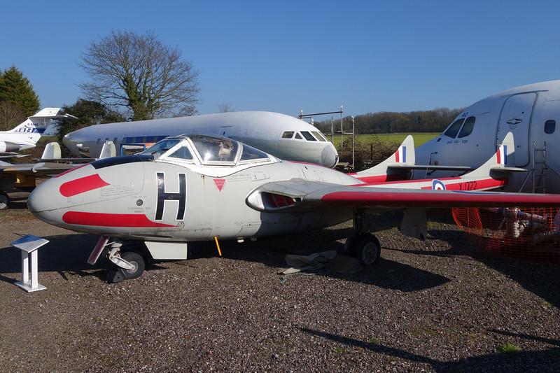 XJ772 (H) de Havilland DH-115 Vampire T.11 c/n 15018 London Colney 09-03-14