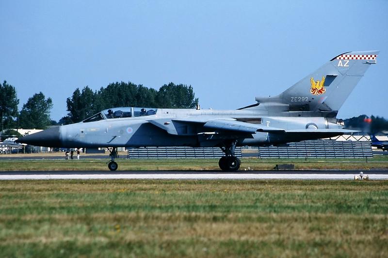 """ZE292 (AZ) BAe/Panavia Tornado F.3 """"Royal Air Force"""" c/n AS038 Fairford/EGVA/FFD 25-07-99 (35mm slide)"""