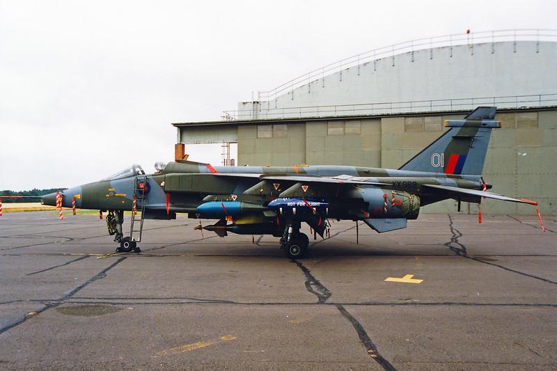 "XX969 (OI) SEPECAT Jaguar GR.1 ""Royal Air Force"" c/n S-91 Cosford/EGWC 05-07-94 (10x15cm print)"