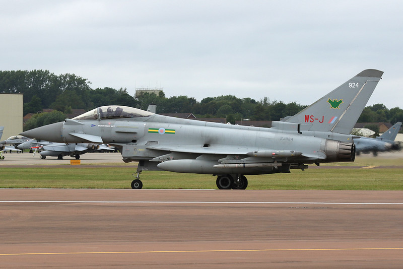 "ZJ924 (WS-J/924) British Aerospace EFA FGR.4 Typhoon ""Royal Air Force"" c/n BS015 Fairford/EGVA/FFD 22-07-19"