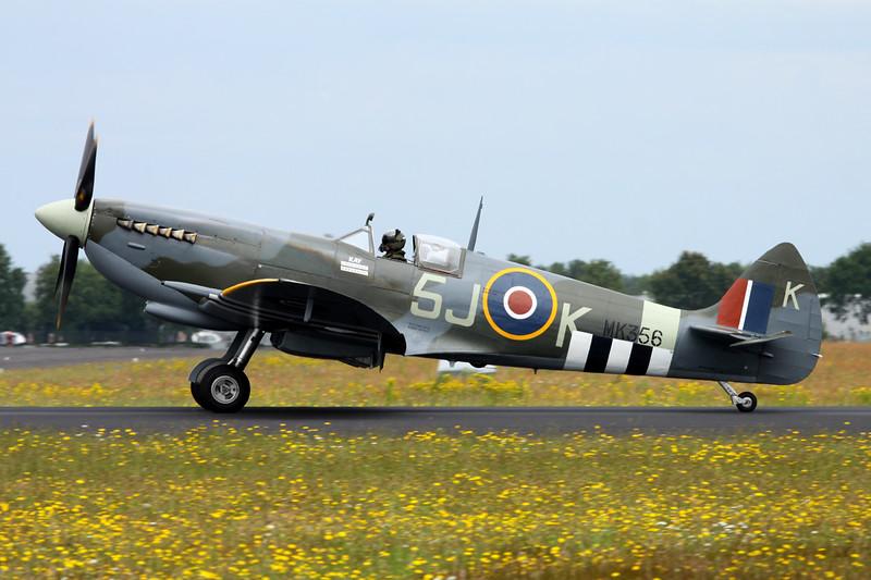 "MK356 (5J-K) Supermarine Spitfire LF.IXe ""Royal Air Force"" c/n CBAF.IX.1561 Gilze-Rijen/EHGR 20-06-14"