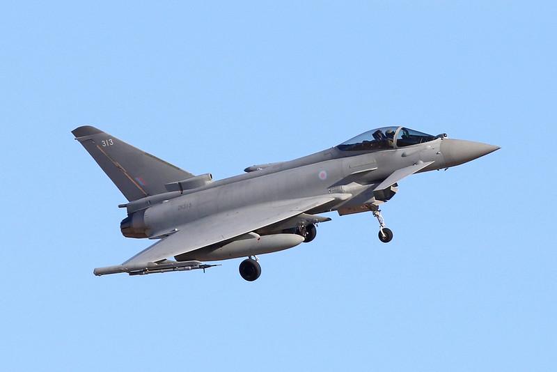"ZK313 (313) British Aerospace EFA FGR.4 Typhoon ""Royal Air Force"" c/n BS070 Nellis/KLSV/LSV 02-02-18"
