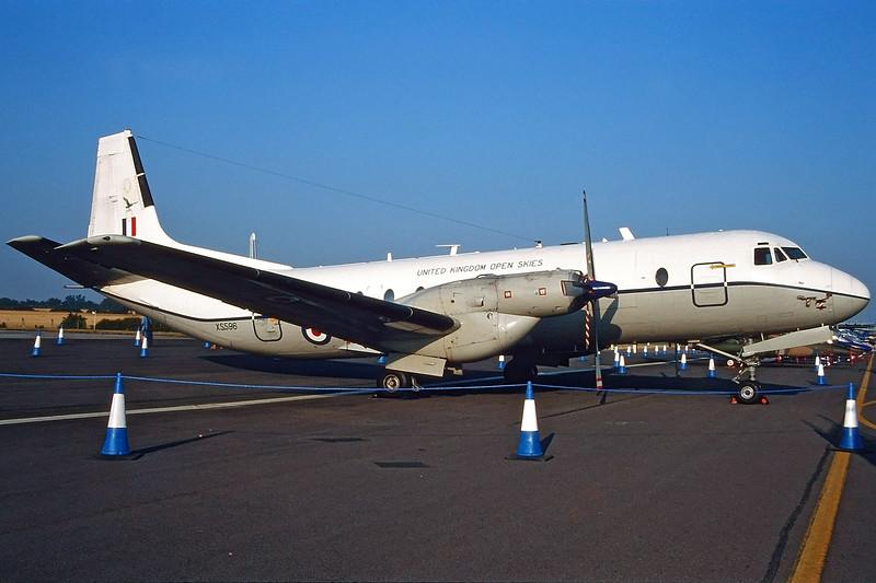 "XS596 Avro Andover C.1 ""Royal Air Force"" c/n 1574 Fairford/EGVA/FFD 25-07-99 (35mm slide)"