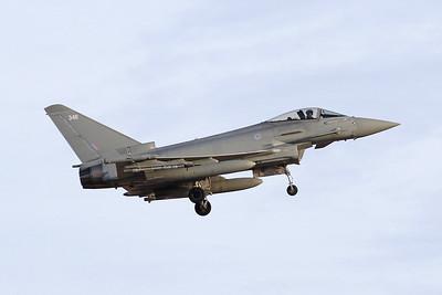 "ZK346 (346) British Aerospace EFA FGR.4 Typhoon ""Royal Air Force"" c/n BS107 Nellis/KLSV/LSV 01-02-18"