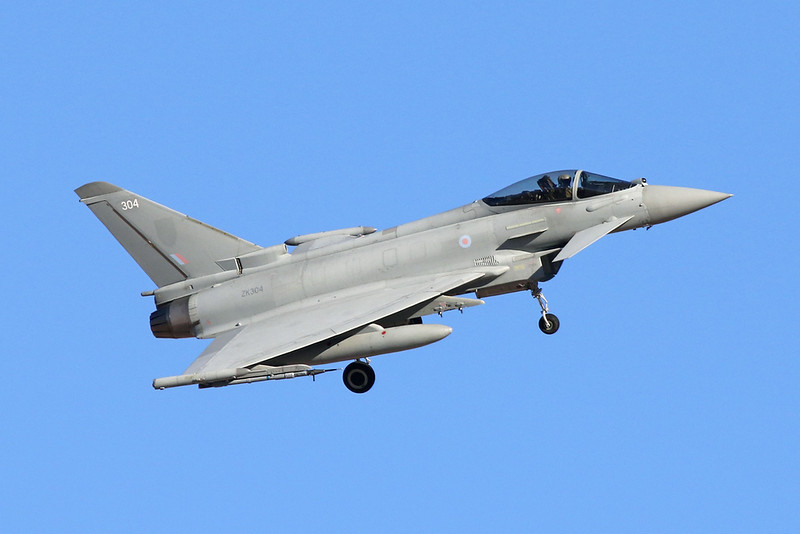 "ZK304 (304) British Aerospace EFA FGR.4 Typhoon ""Royal Air Force"" c/n BS055 Nellis/KLSV/LSV 02-02-18"