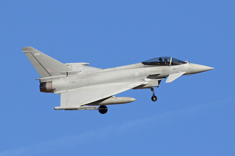 "ZK354 (354) British Aerospace EFA FGR.4 Typhoon ""Royal Air Force"" c/n BS115 Nellis/KLSV/LSV 02-02-18"