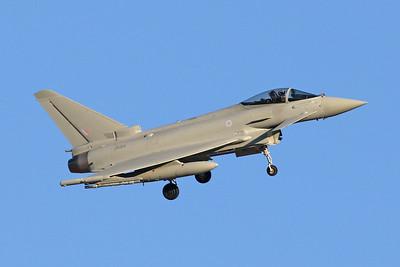"ZK364 British Aerospace EFA FGR.4 Typhoon ""Royal Air Force"" c/n BS125 Nellis/KLSV/LSV 02-02-18"
