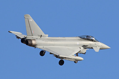 "ZK346 (346) British Aerospace EFA FGR.4 Typhoon ""Royal Air Force"" c/n BS107 Nellis/KLSV/LSV 02-02-18"