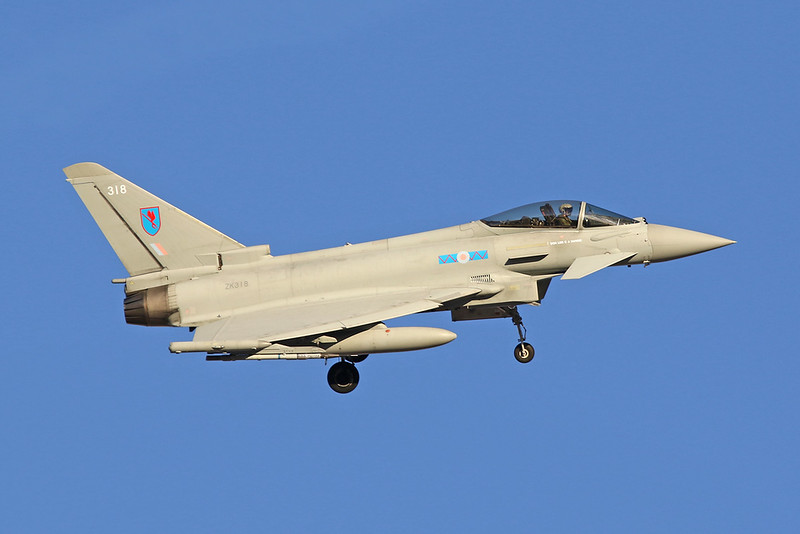 "ZK318 (318) British Aerospace EFA FGR.4 Typhoon ""Royal Air Force"" c/n BS079 Nellis/KLSV/LSV 02-02-18"