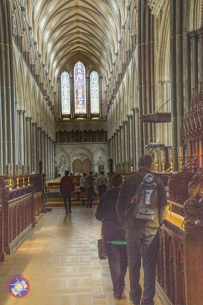 The Nave of Salisbury Cathedral as Seen from the Choir (©simon@myeclecticimages.com)