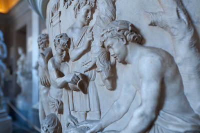 Relief on a Roman urn in the Vatican Museum