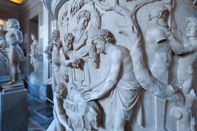 Relief on a Roman urn in Vatican Museums, Vatican City