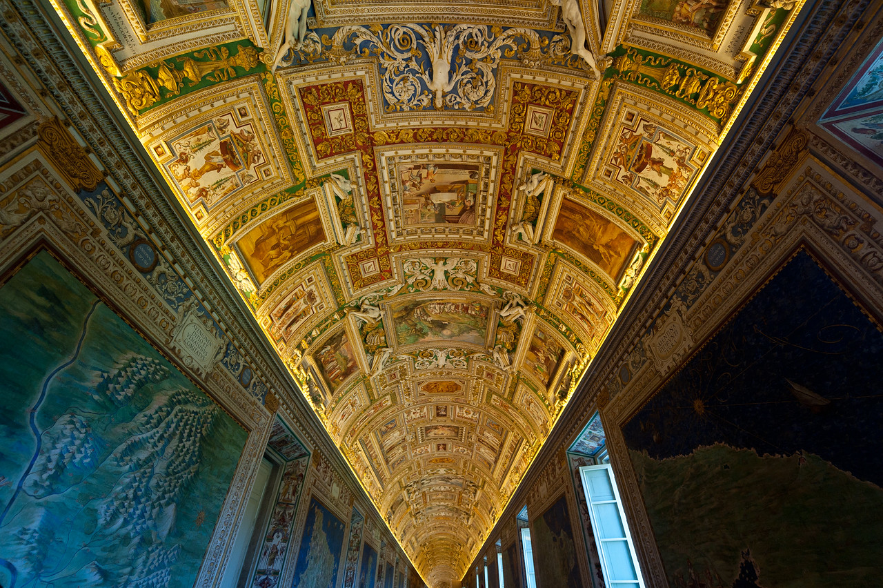 The Gallery of Maps in Vatican Museums, Rome, Italy