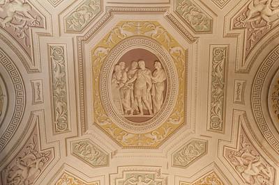 Ceiling tromp-l'oiel fresco in the Vatican Museums, Vatican City