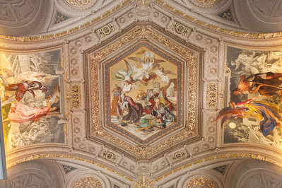 Religious fresco on the ceiling of Vatican Museums, Vatican City