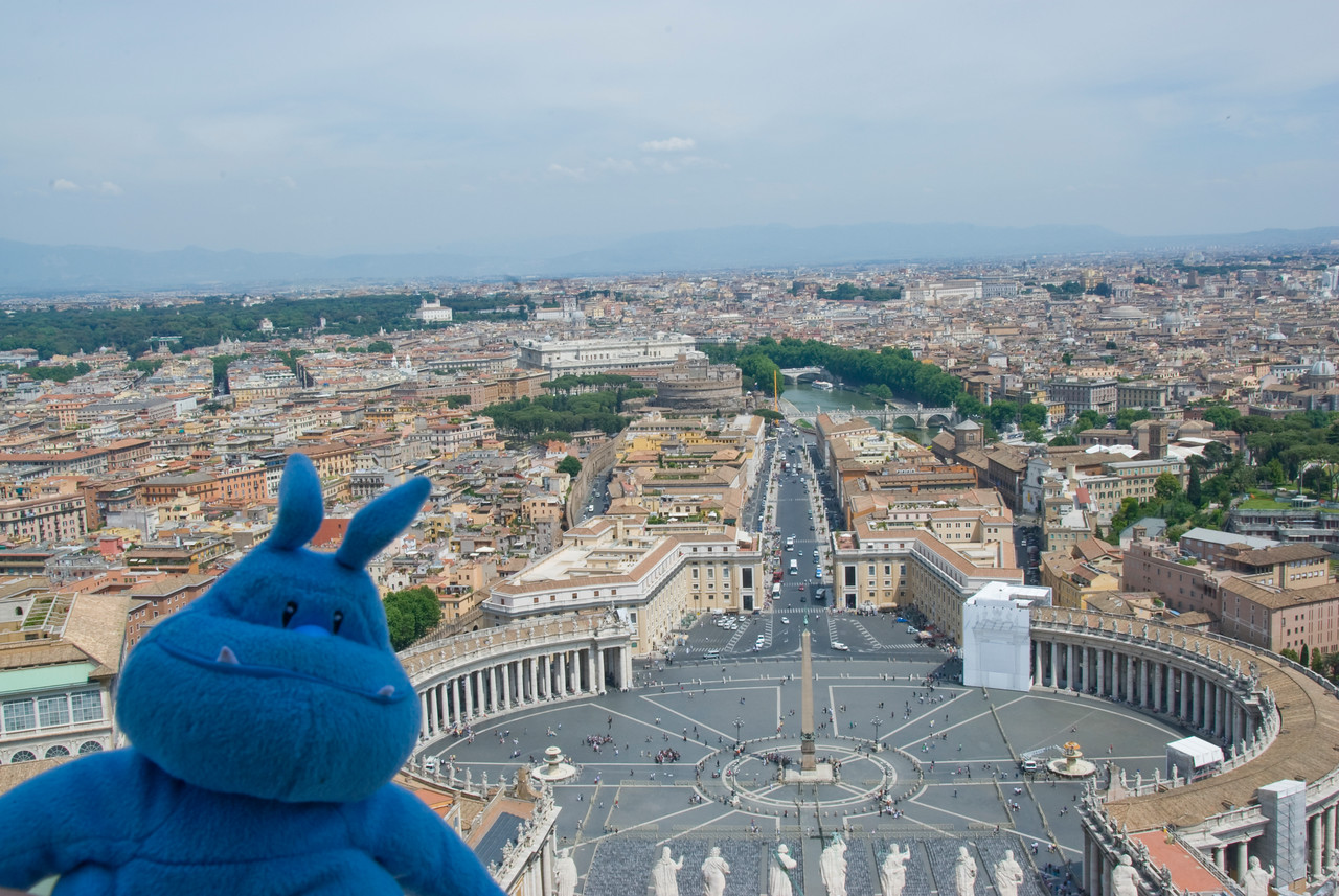 View of St Peter's Square from the St Peter's Basilica dome - Vatican City