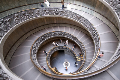 Spiral stairs of the Vatican Museums, designed by Giuseppe Momo