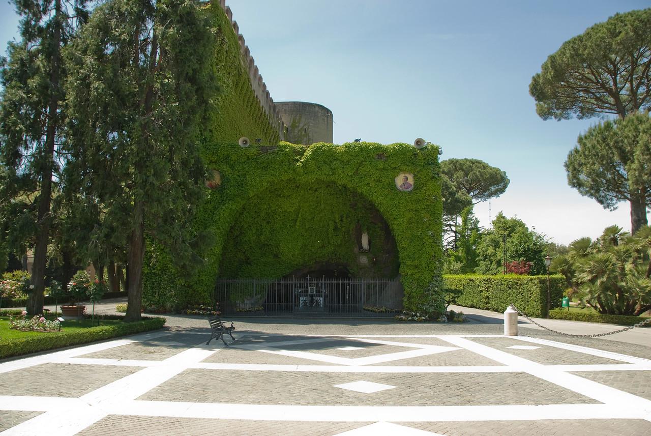 The Lourdes Grotto inside the Vatican City Gardens