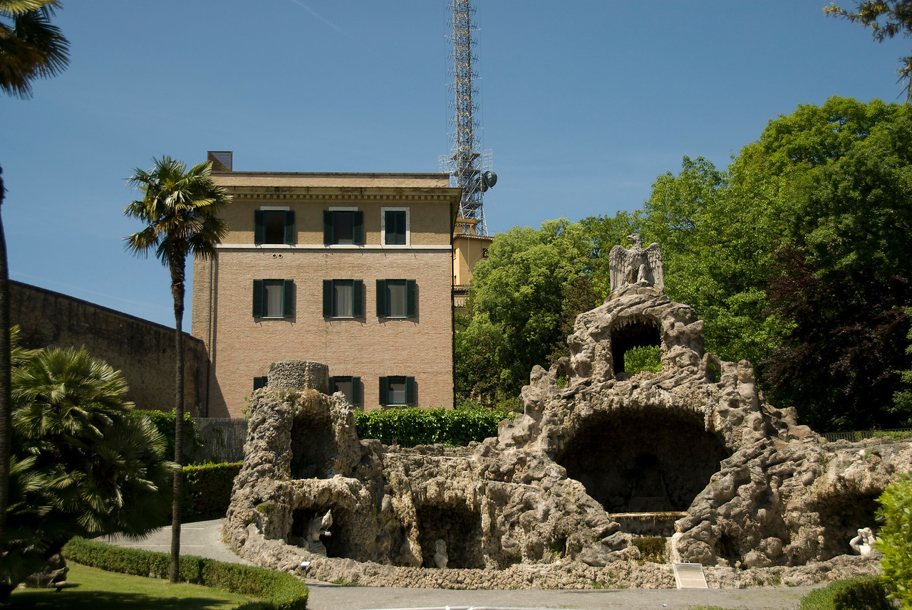 The Fountain of Eagle in Vatican Gardens