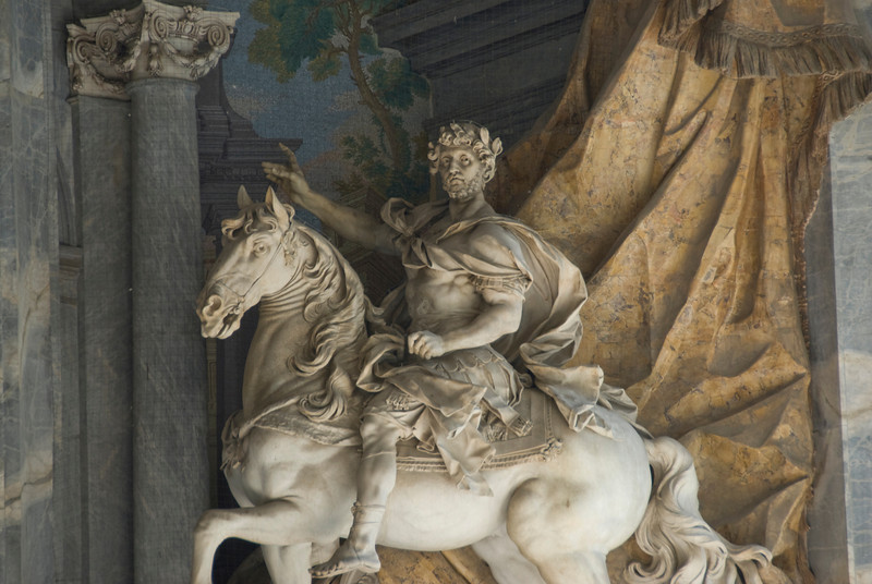 Equestrian statue of Charlemagne in St. Peter's Basilica, Vatican, Rome, Italy