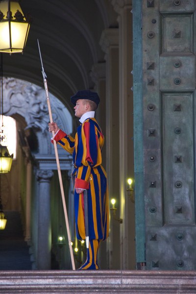 Swiss Guard at St. Peter's Basilica - Vatican City