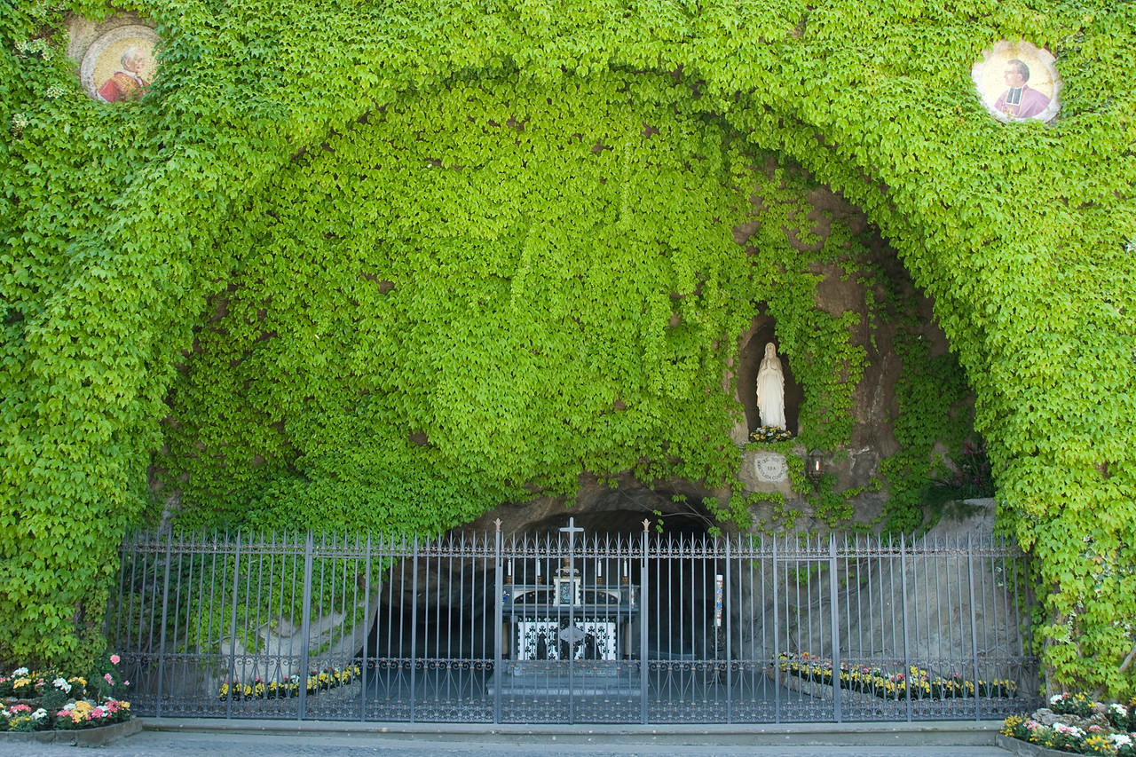 The Lourdes Grotto inside the Vatican City Gardens