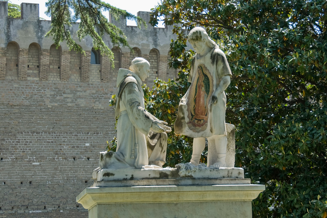 The Madonna of Guadalupe sculpture in Vatican City Gardens