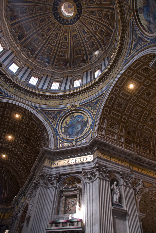 Inside St Peter's Basilica in Vatican City