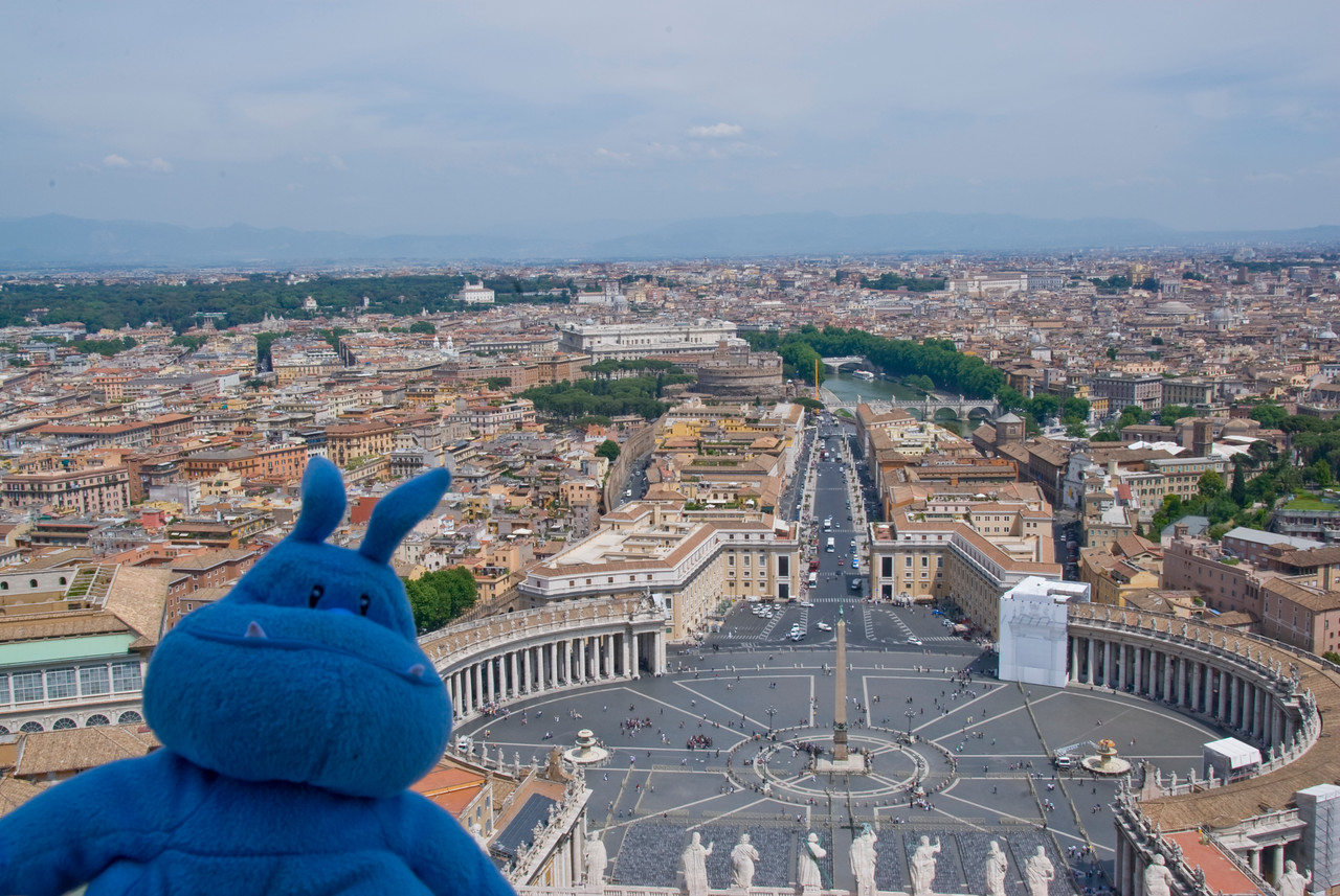 View of St Peter's Square from Michaelangelo dome - Vatican City