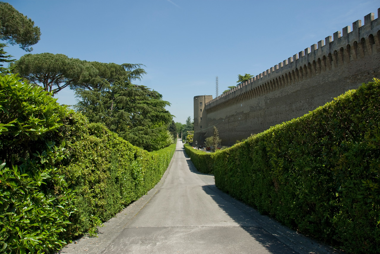 Inside the Vatican City Gardens in Rome, Italy