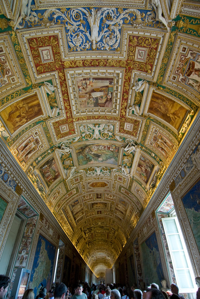 The Gallery of Maps inside Vatican Museums in Rome, Italy