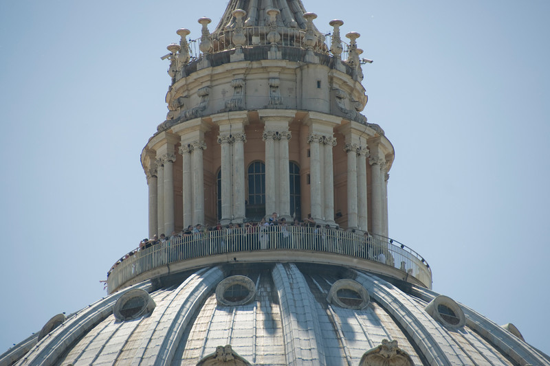 Detailed shot of the St Peter's Basilica dome - Vatican, Rome, Italy